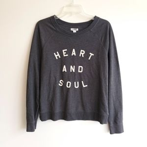 Old Navy Heart and Soul Pullover Sweatshirt Gray
